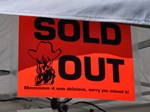 bbq sold out sign